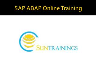 SAP ABAP Online Training in Hyderabad