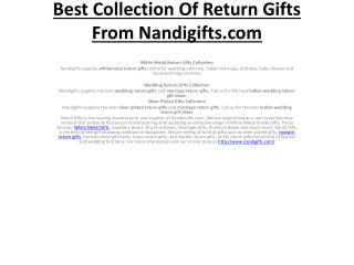 Best Collection Of Return Gifts From Nandigifts.com
