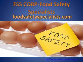 FSS CORP-Food Safety Specialists