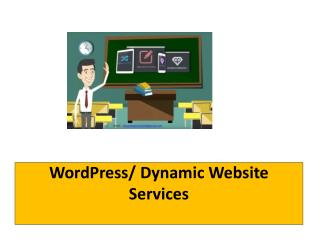 WordPress/ Dynamic Website Services