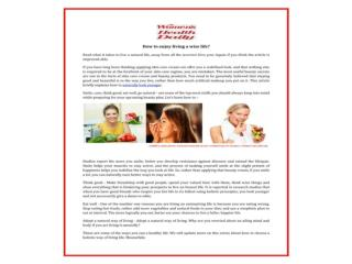 Get Women's aging tricks,women's skincare advise,women's beauty secrets,women's health
