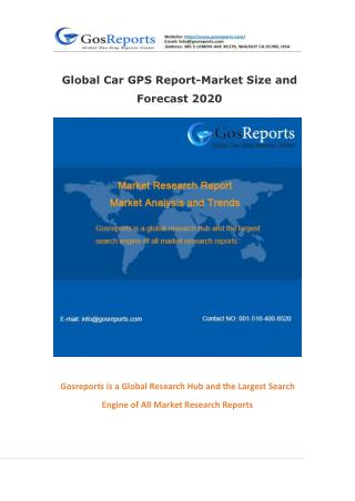 Global Car GPS Market Research Report 2016