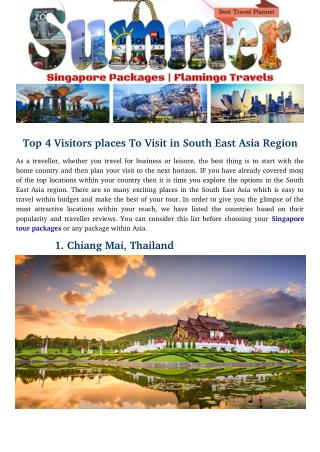 Top 4 Visitors places To Visit in South East Asia Region