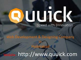 Web Development & Designing Company in Hyderabad.
