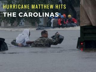 Hurricane Matthew hits the Carolinas