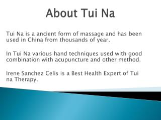 What is Tui Na massage therapy