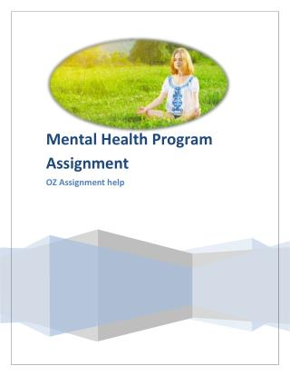 Mental Health Research Program