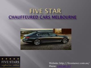 Book Affordable Chauffeured Cars in Melbourne | Five Stars