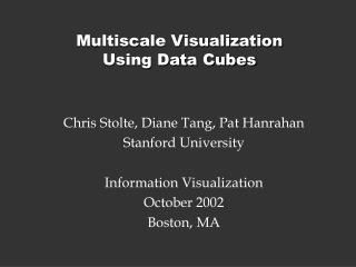 Multiscale Visualization  Using Data Cubes