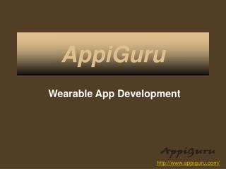 Wearable App Developement For Beautiful Design And Great Fuctionality