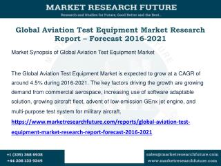 Global Aviation Test Equipment Market Research