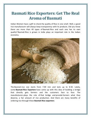 Benefits of Ordering Rice Through Basmati Rice Exporters