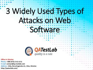 3 Widely Used Types of Attacks on Web Software