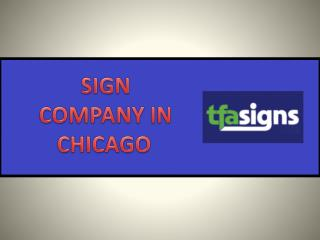 Sign Company In Chicago
