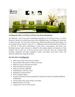 Ats Rhapsody Make Use Of These To Prefer Your Desired Residential