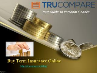 Buy Term Insurance Online