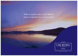 New Residential Project in Powai by Lake Riviera