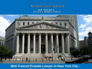 Well Trained Probate Lawyer In New York City – Richard Cary Spivack
