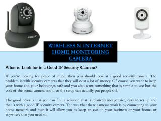 Small security cameras with night vision