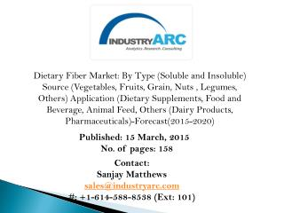 Dietary Fibers Market reduces breast cancer risk upto 20%, confirms market research study!