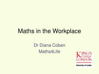 Maths in the Workplace