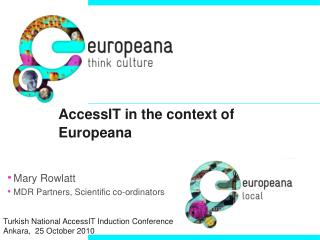 AccessIT in the context of Europeana