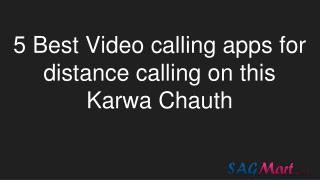 5 best Video calling apps for distance calling on this Karwa Chauth