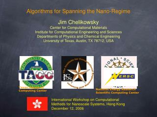 Algorithms for Spanning the Nano-Regime