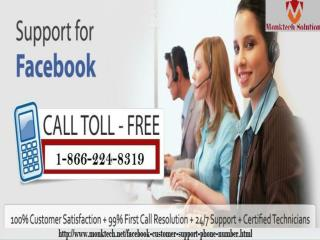 Hurry up! Call us for best Facebook Customer Support Phone Number at 1-866-224-8319