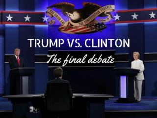Clinton vs. Trump: the final debate