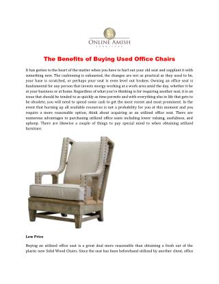 The Benefits of Buying Used Office Chairs