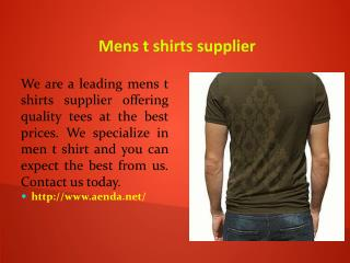 Mens t shirts supplier