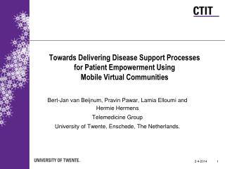 Towards Delivering Disease Support Processes for Patient Empowerment Using Mobile Virtual Communities