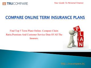Compare Online Term Insurance Plans