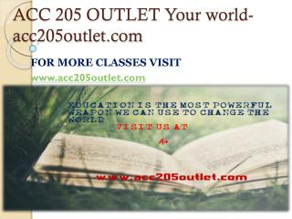 ACC 205 OUTLET Your world-acc205outlet.com