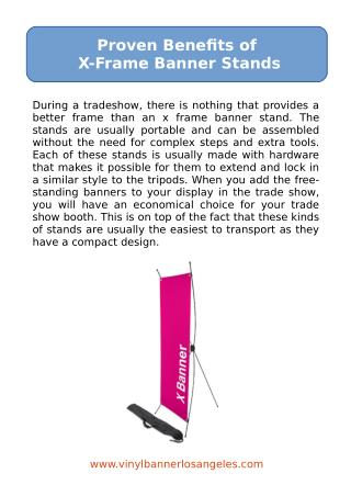 Proven Benefits of X-Frame Banner Stands