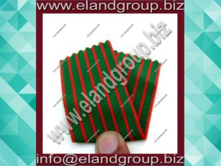 Medal Ribbon Red & Green