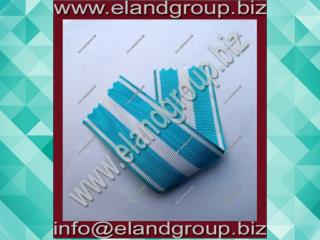 Medal Ribbon Sky Blue & White