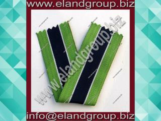 Medal Woven Light Green&dark Blue  Ribbon