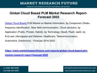 Global cloud based plm market research report forecast 2022