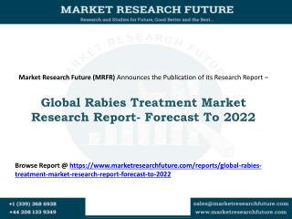 Global Rabies Treatment Market Research Report- Forecast To 2022