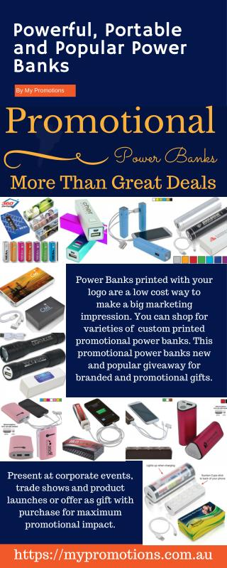 Shop for Custom Printed Promotional Power Banks