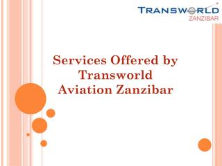 Services Offered by Transworld Aviation