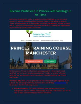 prince2 training manchester