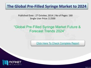 Global Pre-Filled Syringe Market Forecast & Future Industry Trends 2024