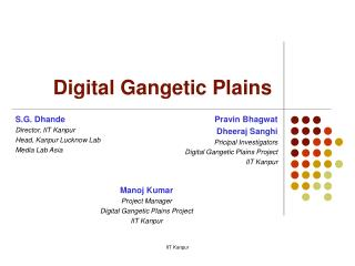 Digital Gangetic Plains