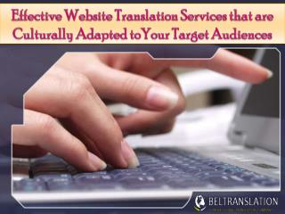 Effective website translation services that are culturally adapted to your target audiences