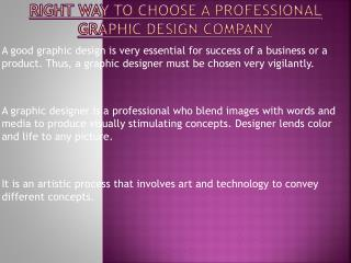 Choose Professional Graphic Design Company By Following These Steps