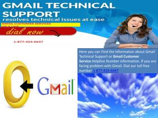 gmail customer services number 1-877-424-6647