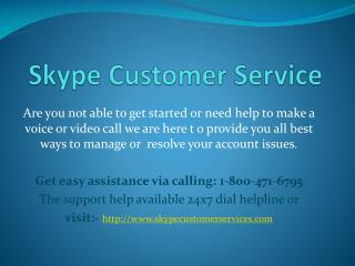 Skype Accounts Help for Users